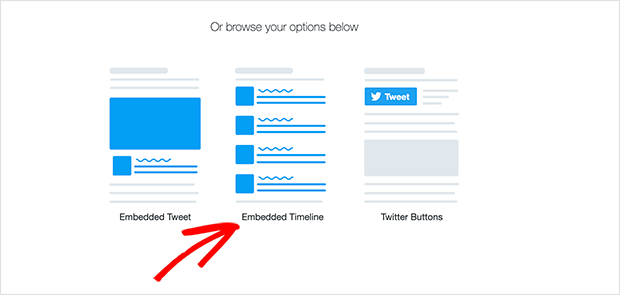 Twitter Publish embedded timeline option