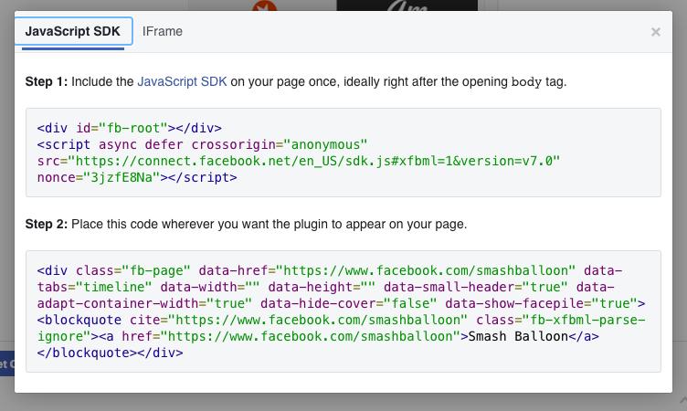 facebook embed code