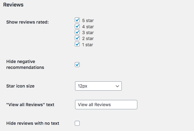 customize facebook review section