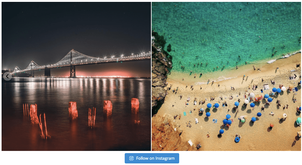 instagram slideshow widget example
