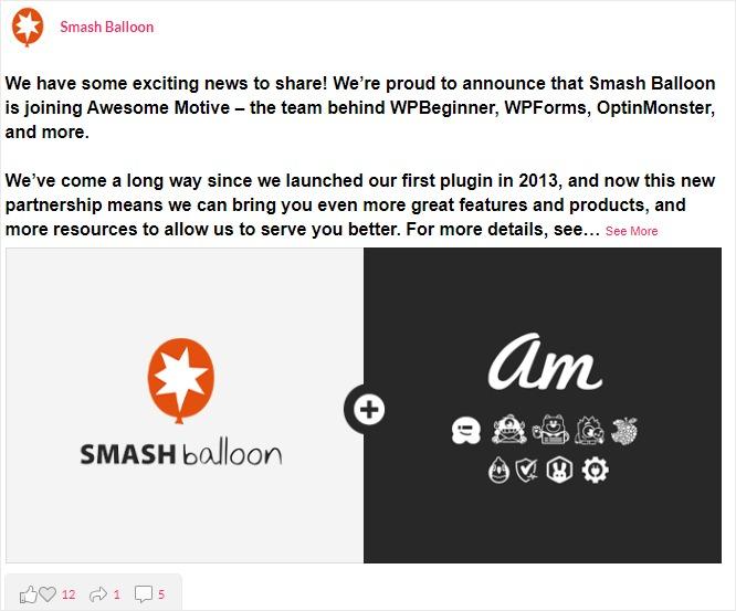 facebook feed widget for wordpress full width