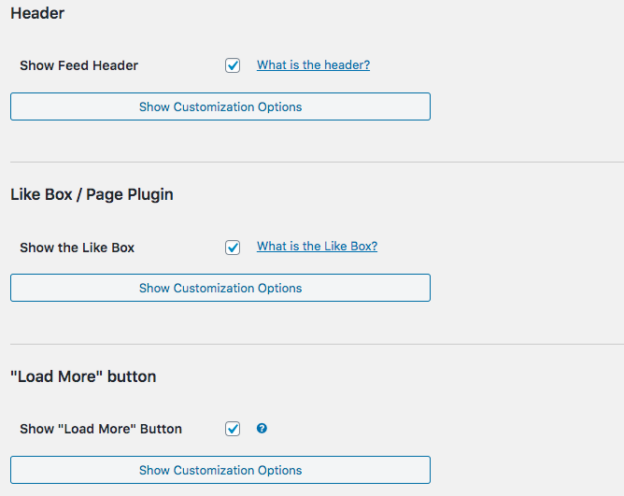 customize custom facebook feed pro
