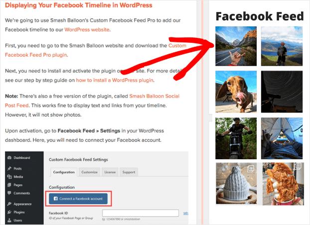 facebook feed widget for wordpress sidebar example