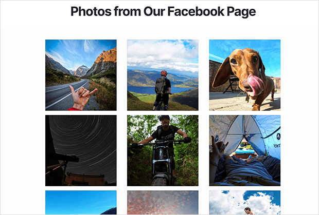 embed facebook photos on website