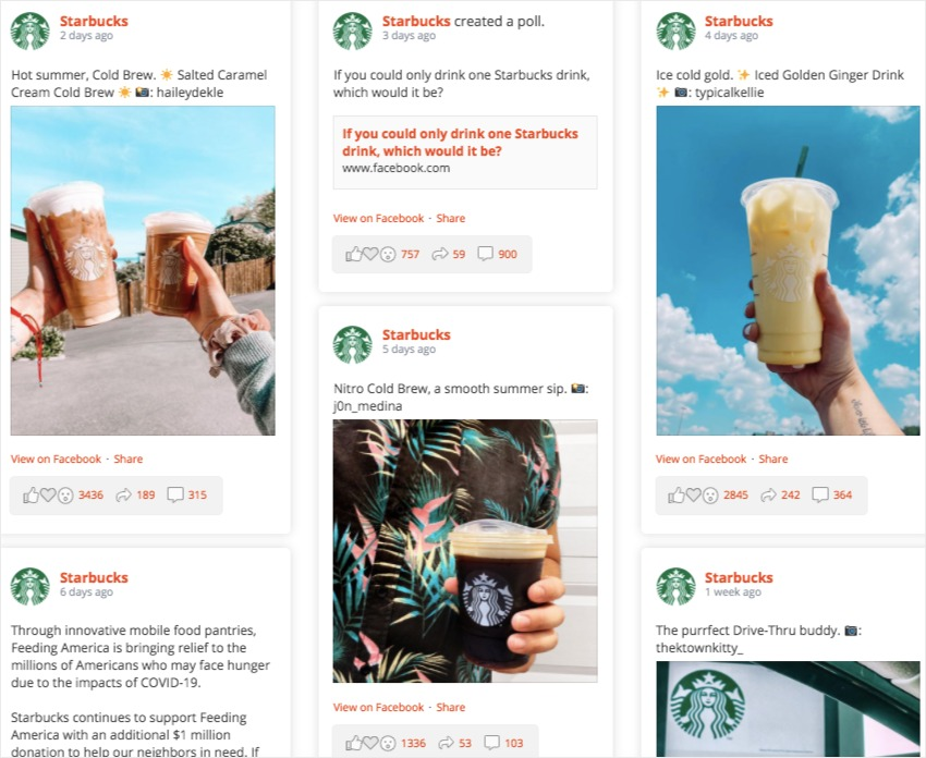 how to get more likes on facebook business page starbucks