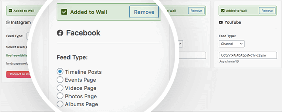 social wall pro smashballoon facebook settings