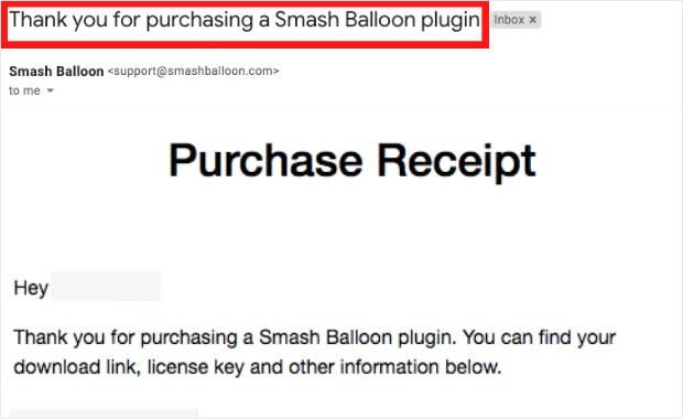smash balloon plugin license key