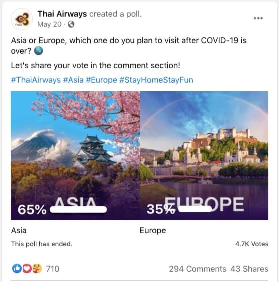 facebook poll type example