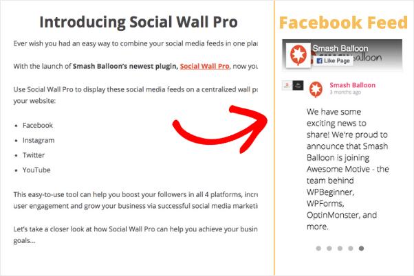 facebook slider wordpress