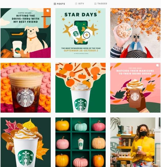 starbucks instagram aesthetic theme