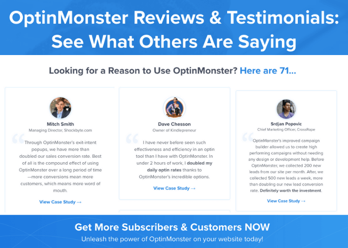 customer quote testimonials type of social proof