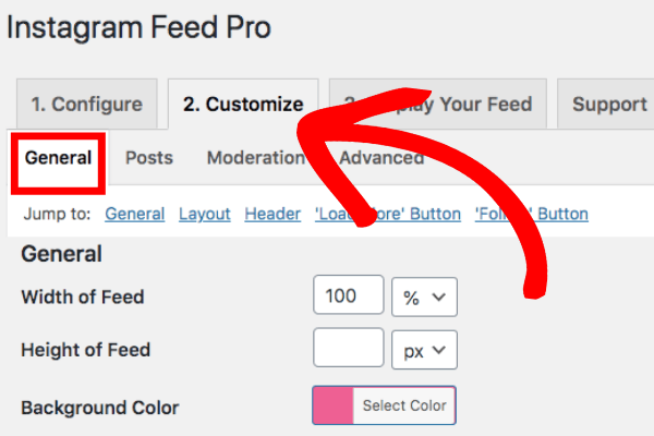 customize instagram feed pro