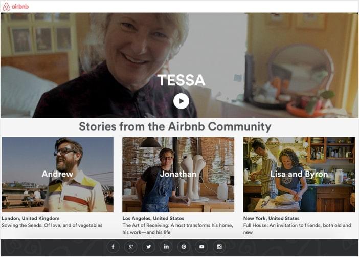 airbnb social media integration into website