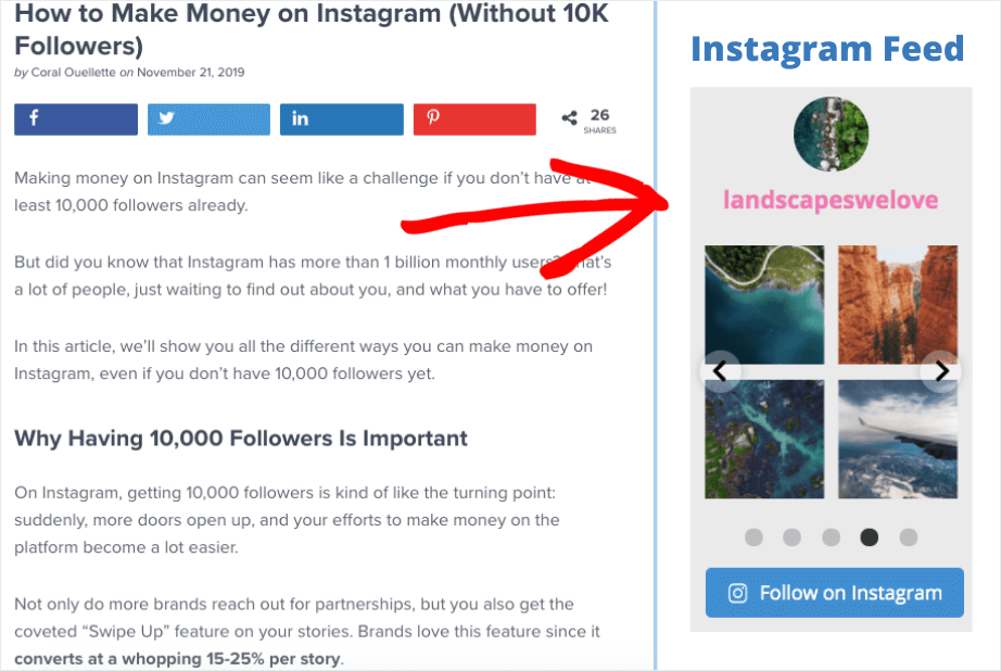 instagram widget wordpress sidebar