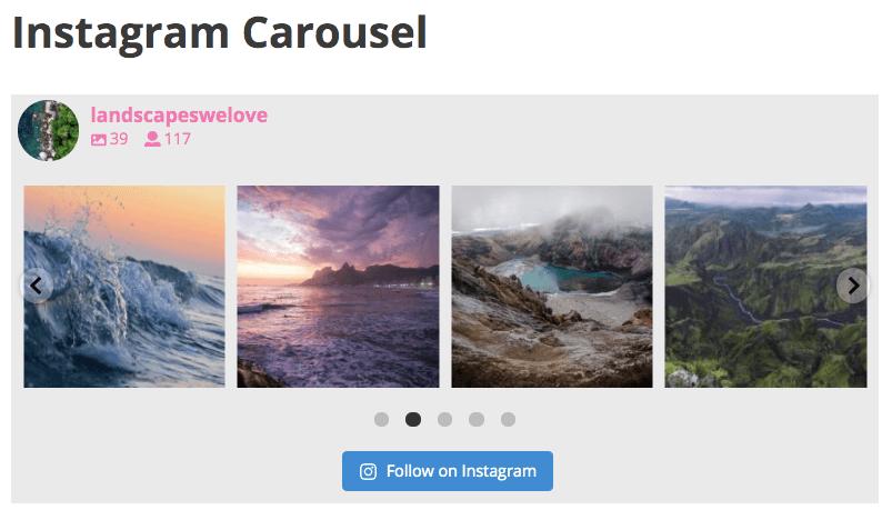 Embed Instagram Carousel on WordPress 1 row