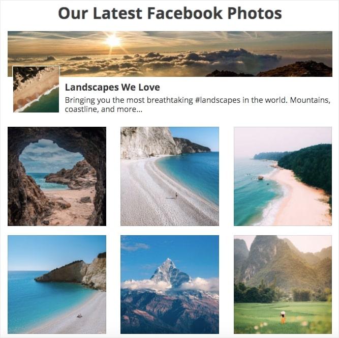 facebook photo posts to wordpress