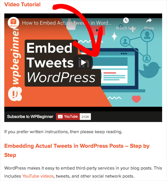 embed video on your site for seo