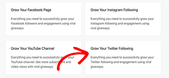 grow your twitter following template