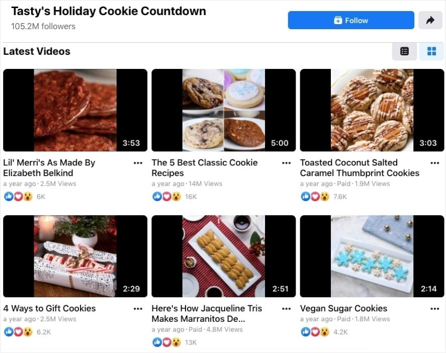 social media marketing examples tasty