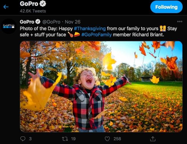 social media marketing examples gopro