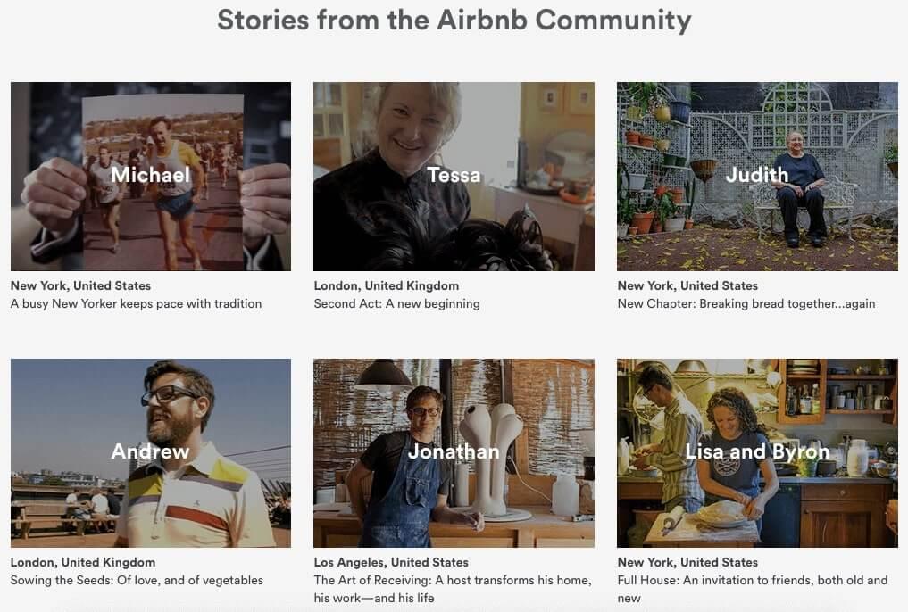 social media marketing examples airbnb