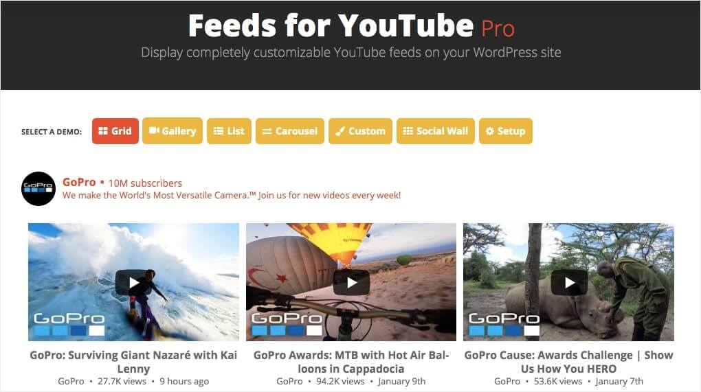 best youtube plugin for wordpress