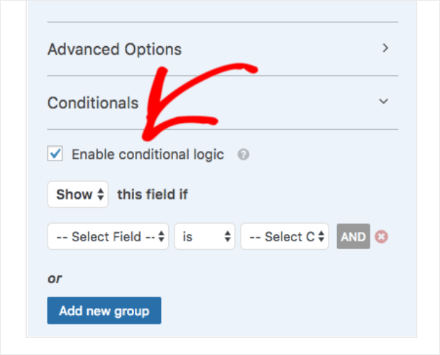 wpforms review conditional logic