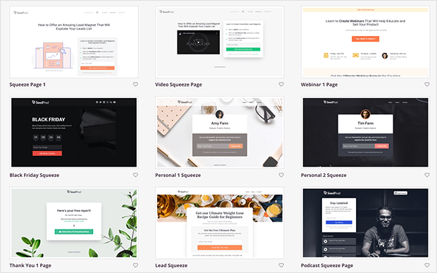 seedprod review templates