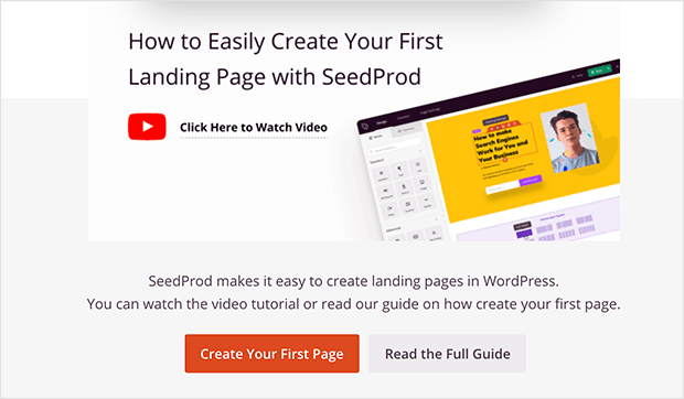 seedprod review setup