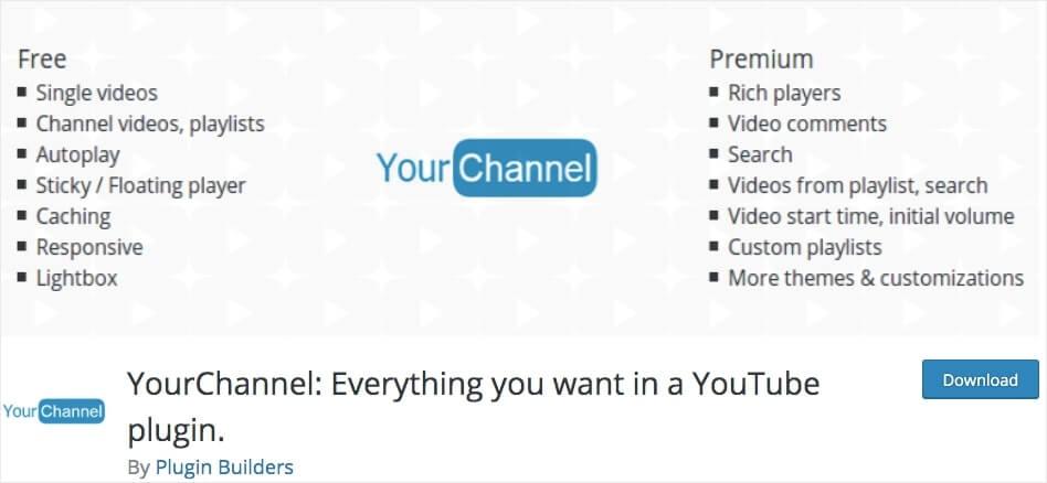 wordpress youtube embed plugin