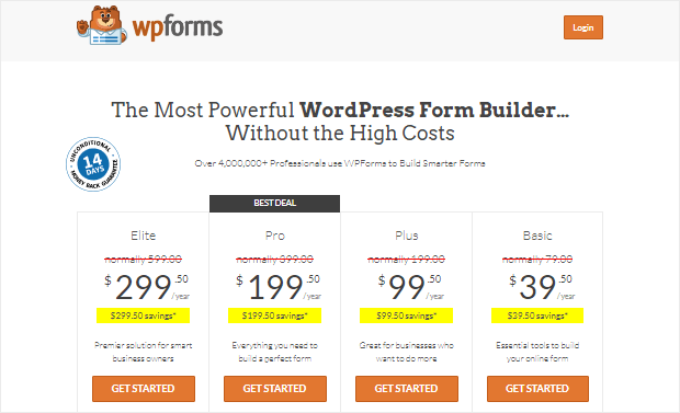 wpforms review pricing