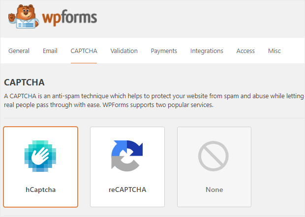 wpforms review spam protection
