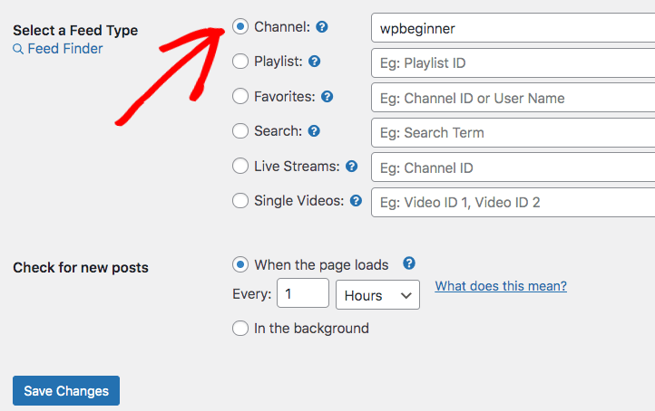 feeds for youtube pro add youtube channel to wordpress