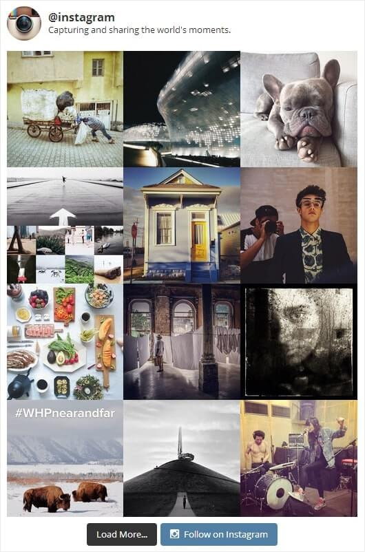 embed instagram feed free example