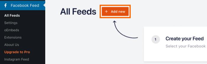 Add New Feed - Facebook 4.0