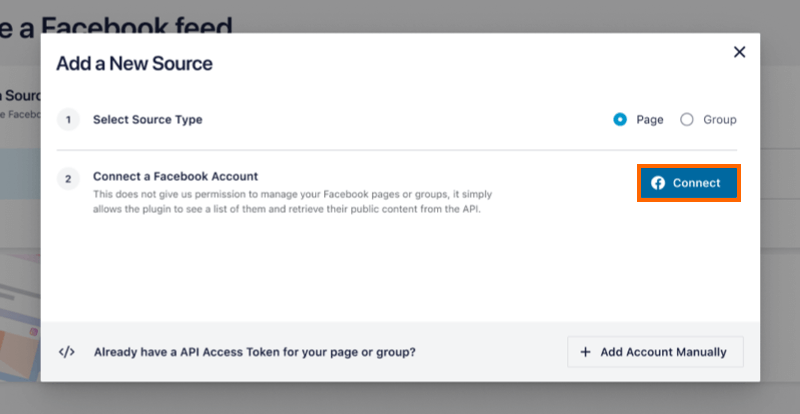 Connect Account - Facebook 4.0