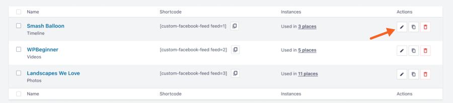 Edit all Feeds - Facebook 4.0