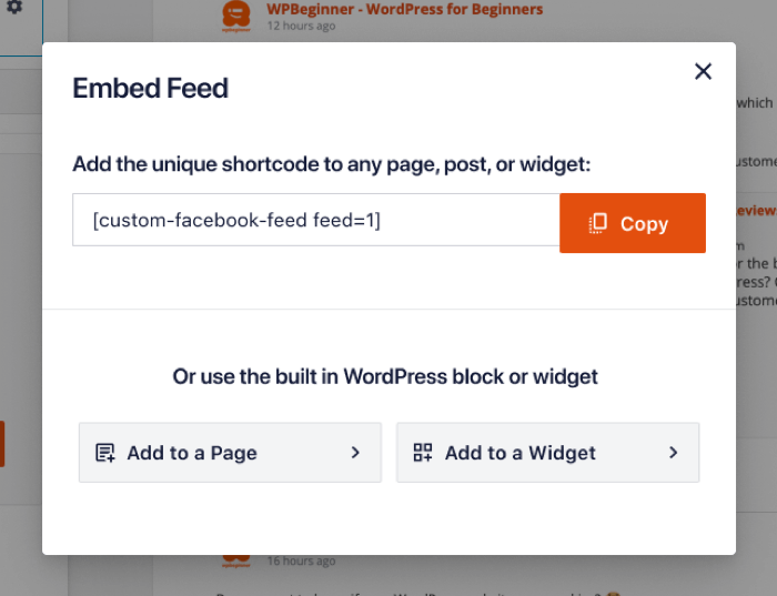 Embed Feed - Facebook 4.0