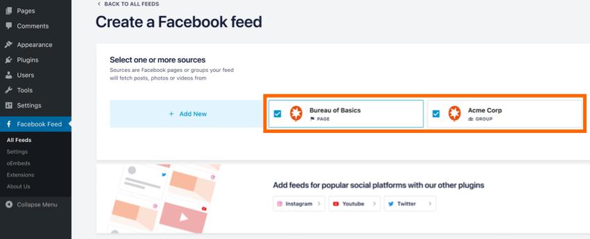 Multifeed Source - Facebook 4.0
