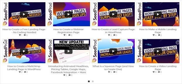 carousel slider video feed example youtube