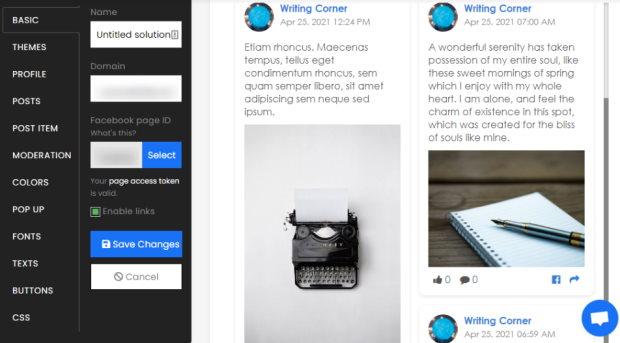 clean interface sociablekit