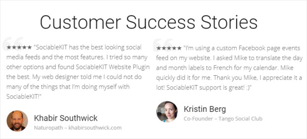 customer success stories sociablekit