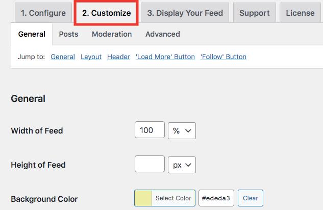 customize embedded igtv videos feed