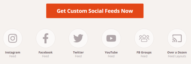different supported platforms custom feed