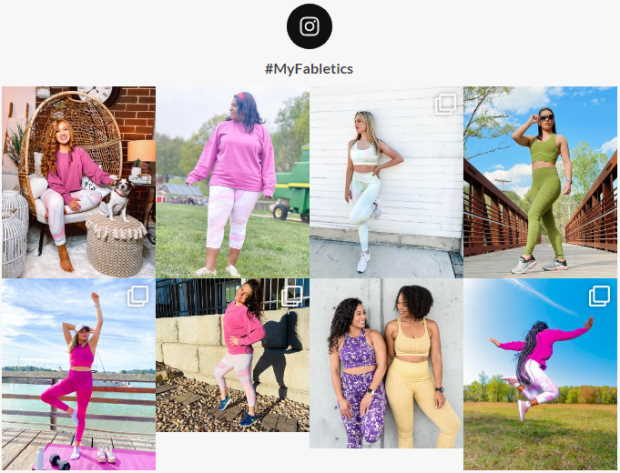 recreated my fabletics feed