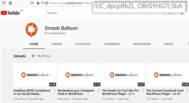 smash balloon channel
