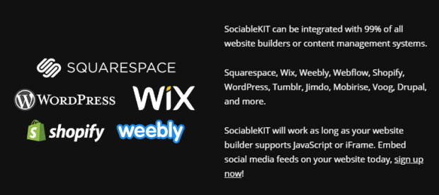 sociablekit supported platforms