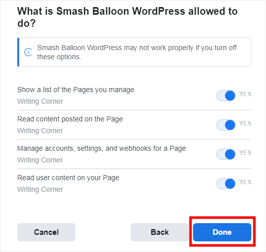what is smash balloon allowed to do