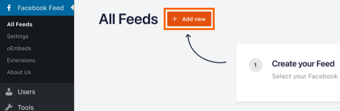 Add New Feed Pro - Facebook 4.0