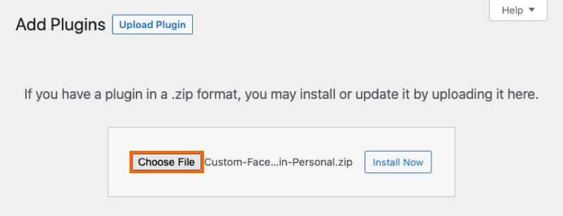 Choose File - Facebook 4.0